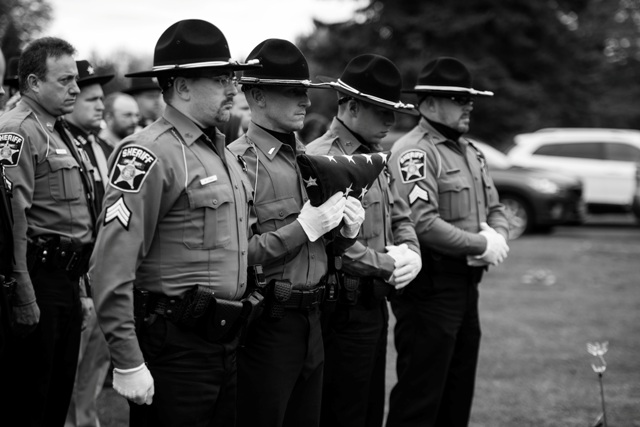 Officers at Sgt Thomas L. Connelly Funeral 2017