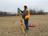 Image of Surveyor in the field