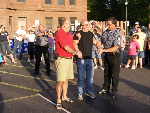 National Night out DA volunteers to be tased by officer