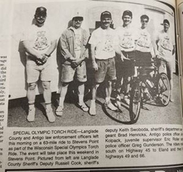 1993 Torch Ride group photo