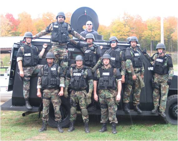 SRT Team with tactical vehicle